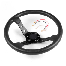 14inch 350mm PU Leather Aluminum Car Racing Steering Wheel